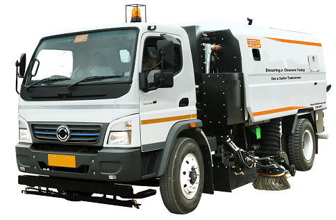 Truck Mounted Road Sweeping Machine India