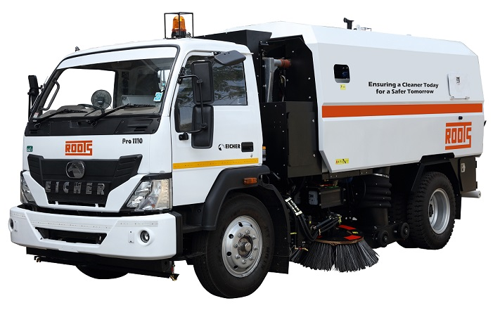 Truck Mounted Road Sweeping Machine in India